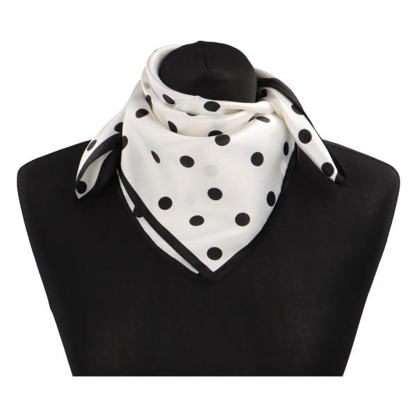 Stylový hedvábný dámský šátek Matilda, bílá