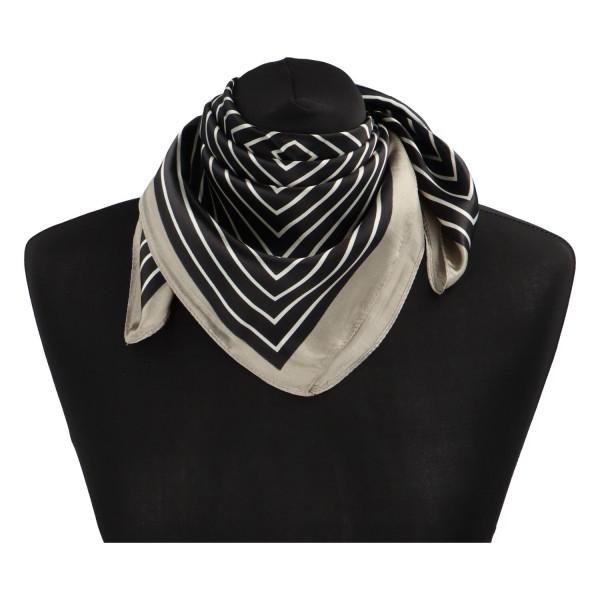 Stylový hedvábný dámský šátek Matilda, tmavý