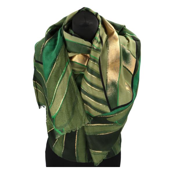 Stylová dámská šála Rytmus, zelená