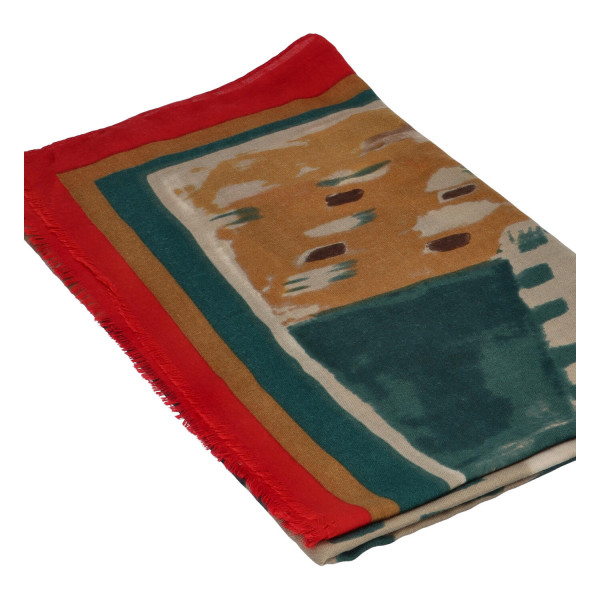 Módní dámská šála Abstract, červená