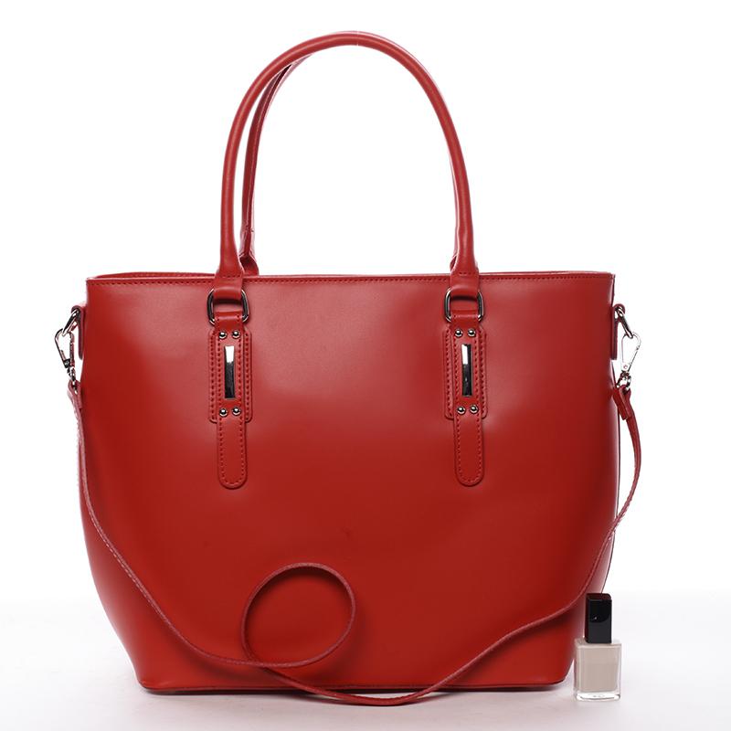 Elegantní kožená kabelka Angela, červená