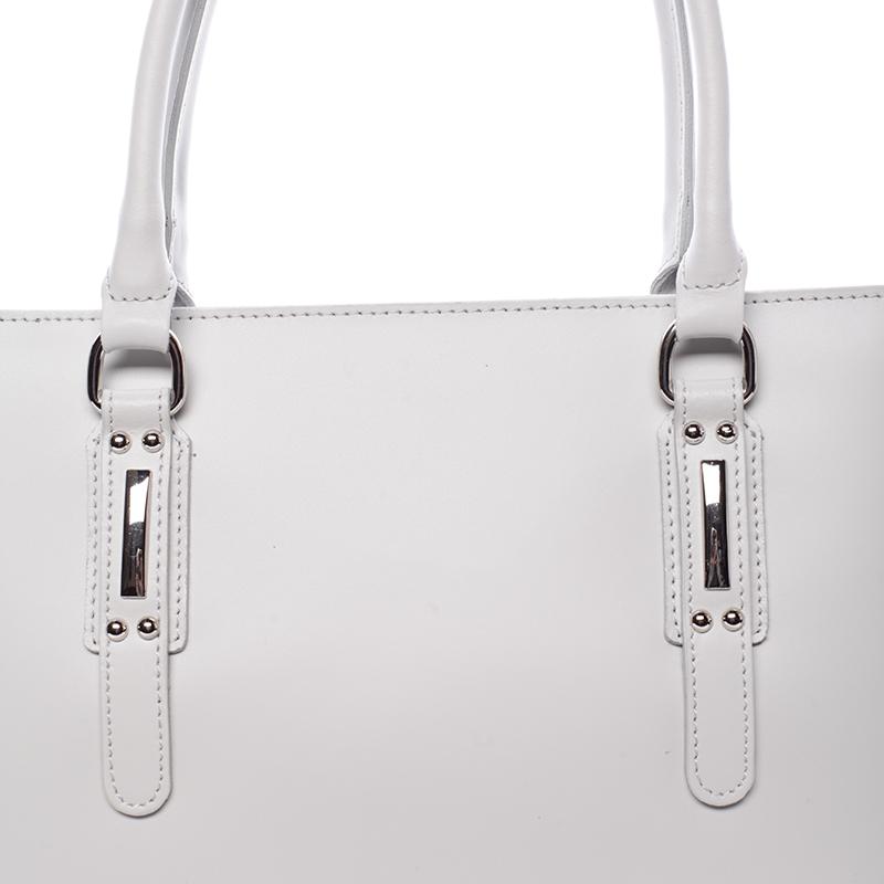 Elegantní kožená kabelka Angela, světle šedá