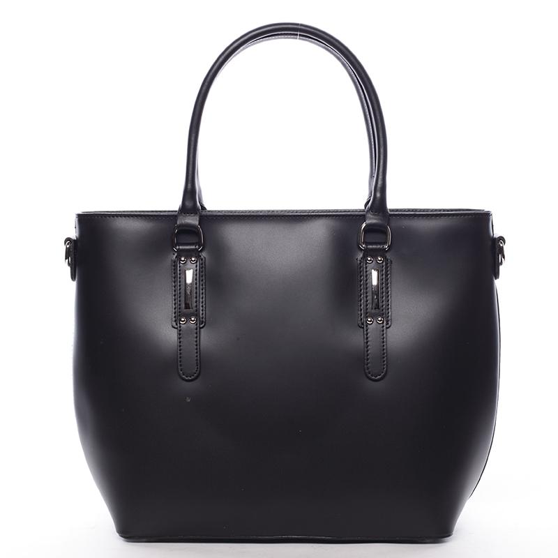 Elegantní kožená kabelka Angela, černá