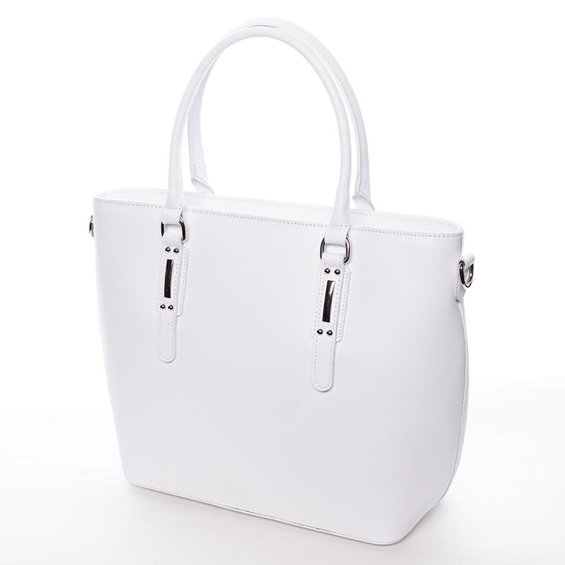 Elegantní kožená kabelka Angela, bílá