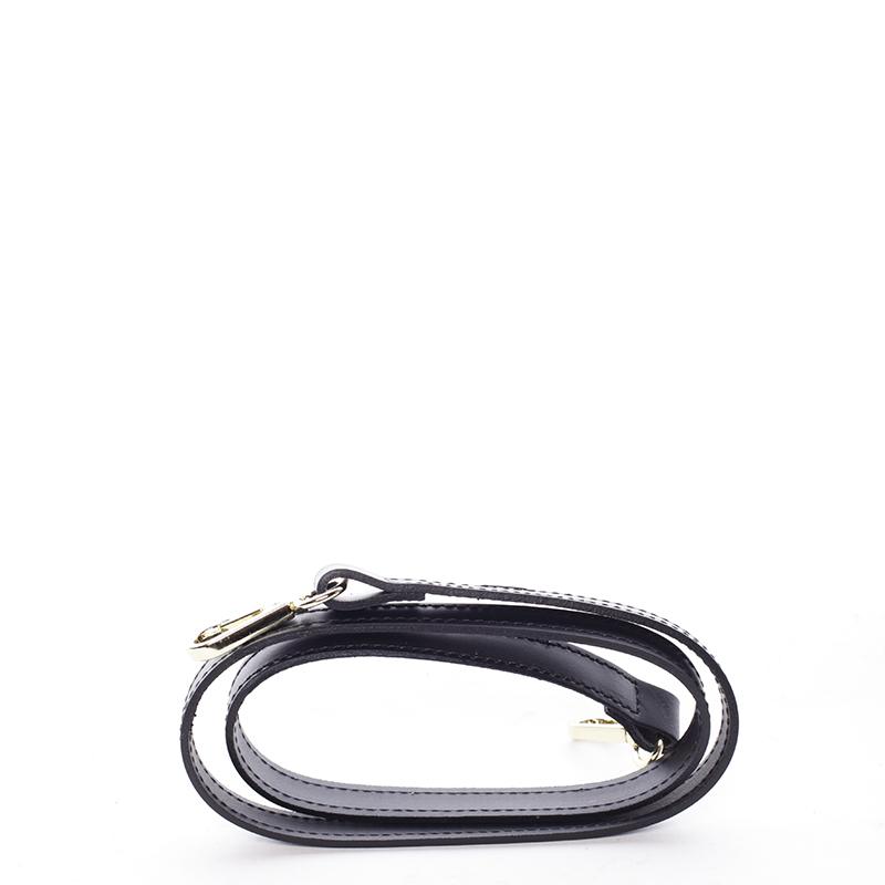 Trendy kožená kabelka do ruky i přes rameno Pamela, černá