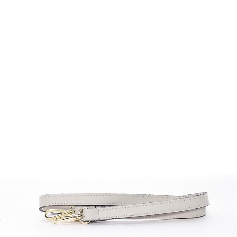 Trendy kožená kabelka do ruky i přes rameno Pamela, krémová
