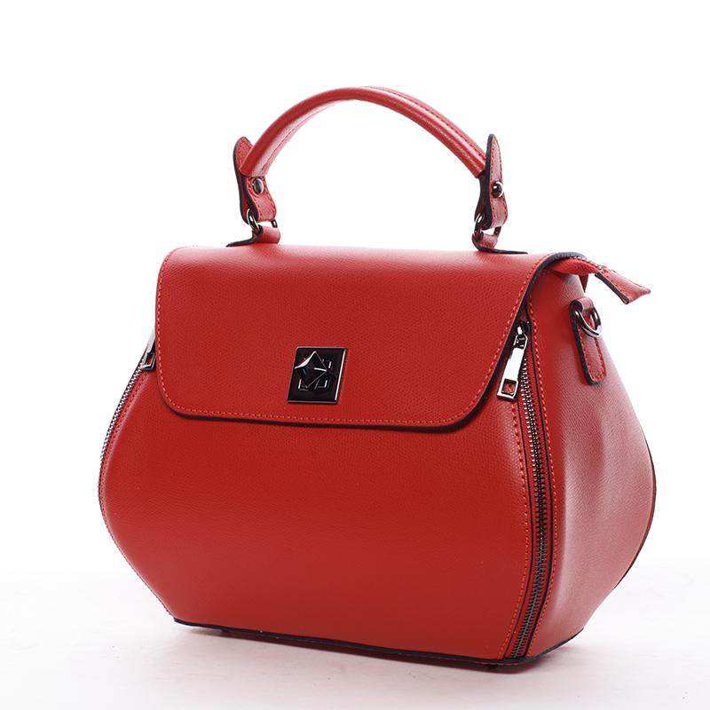 Trendy kožená kabelka a crossbody v jednom Jamie, červená
