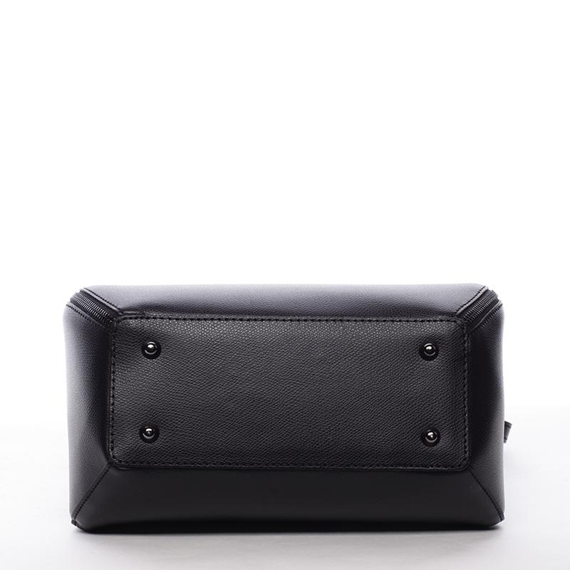 Trendy kožená kabelka a crossbody v jednom Jamie, černá