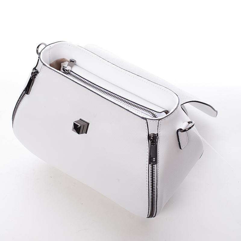 Trendy kožená kabelka a crossbody v jednom Jamie, bílá