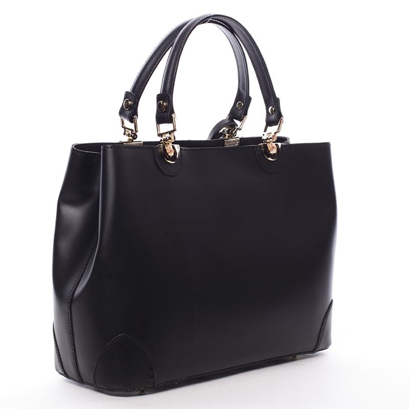 Luxusní kožená kabelka Teagan, černá