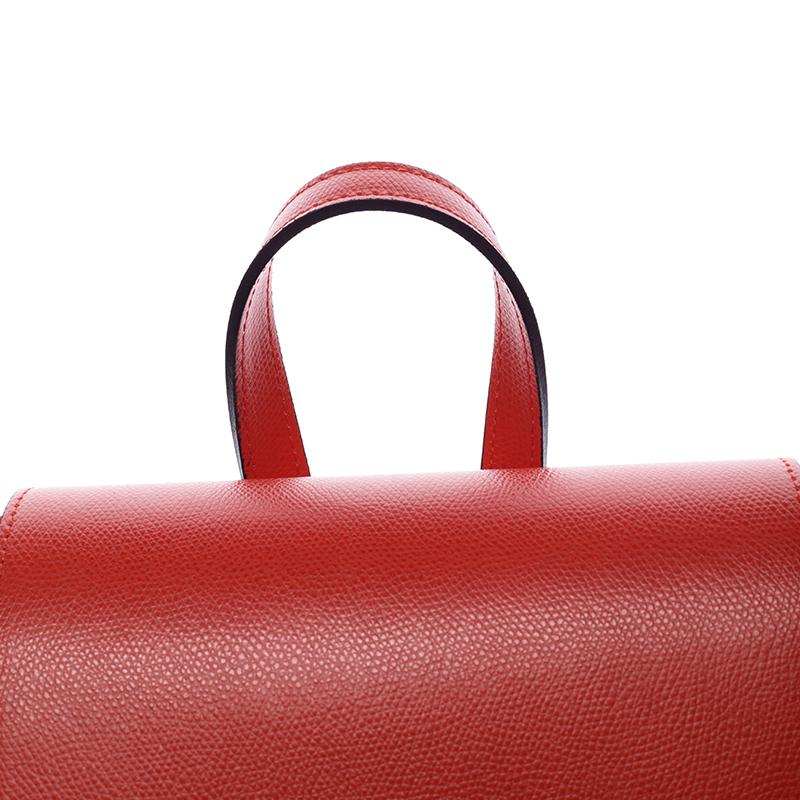 Dámský kožený batůžek Mandy, červená