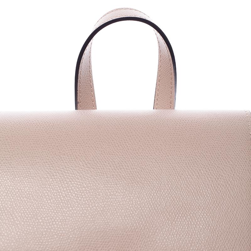 Dámský kožený batůžek Mandy, růžový