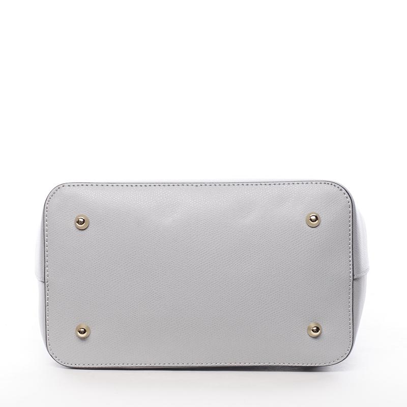 Dámský kožený batůžek Mandy, šedý