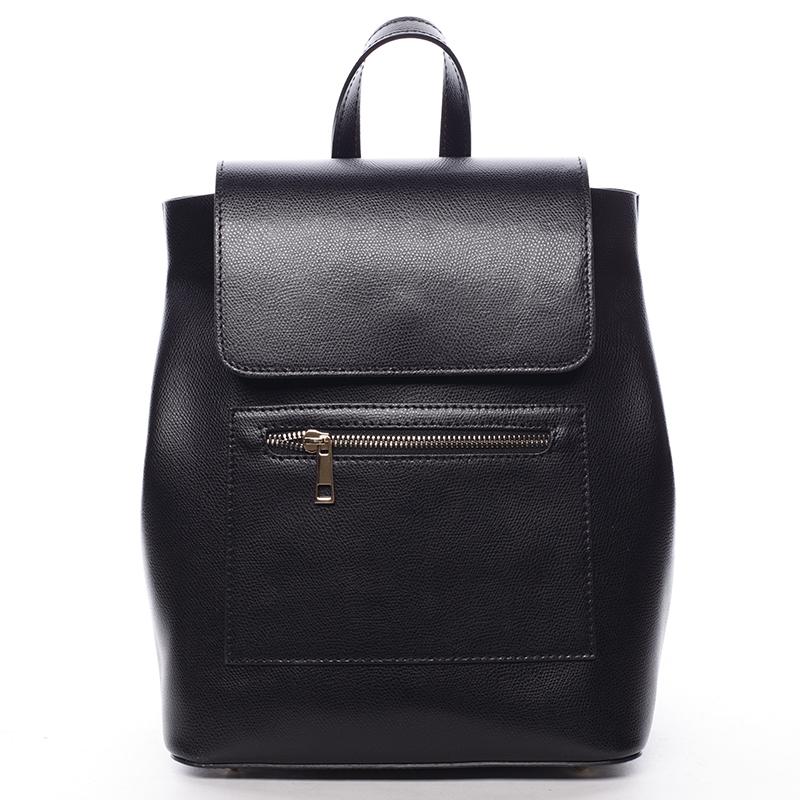 Dámský kožený batůžek Mandy, černý