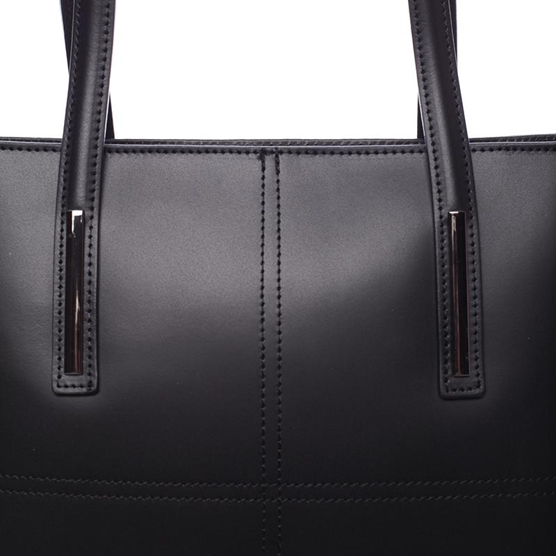 Dámská elegantní kožená kabelka Kierra, černá