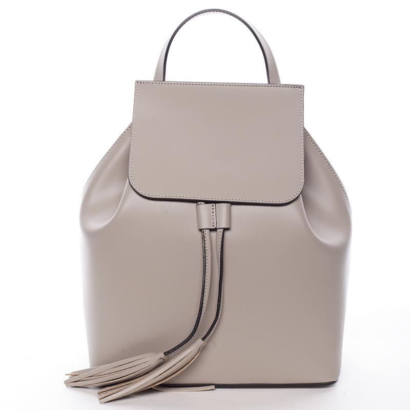 Atraktivní kožený batůžek Priscilla, oříškový