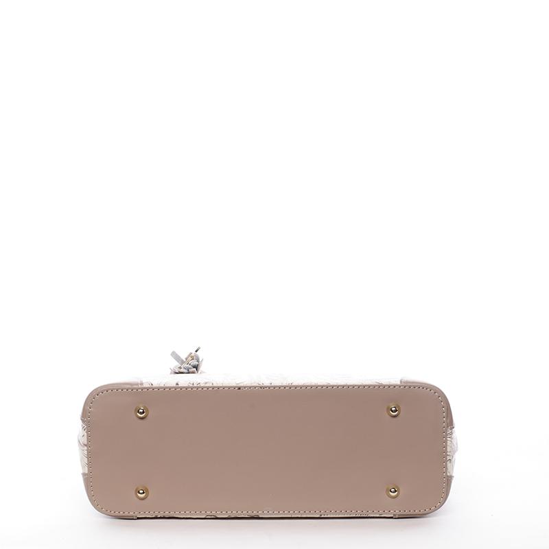 Luxusní kožená kabelka se vzory Raina, oříšková