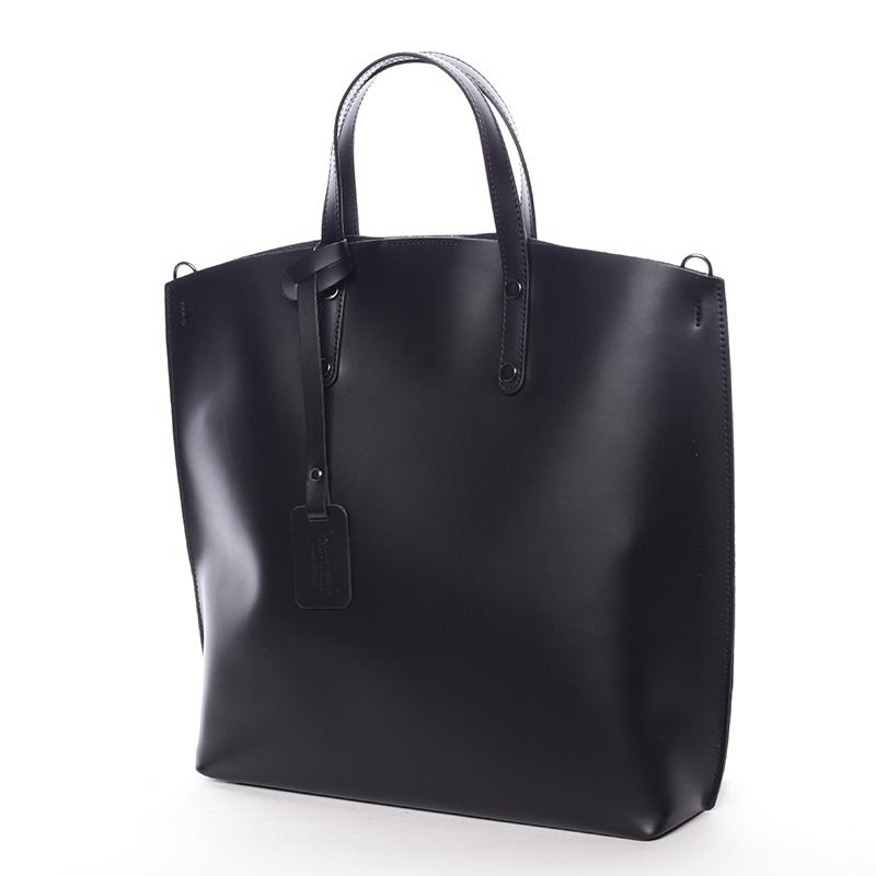 Atraktivní kožená kabelka Bailey, černá new