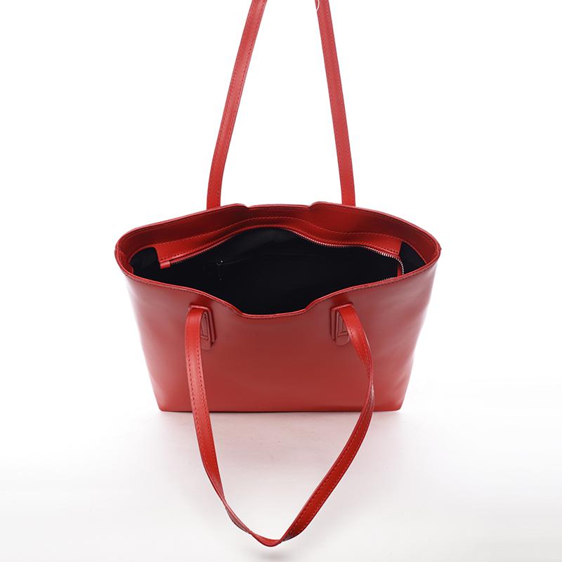 Dámská kabelka kožená Elizabeth, červená