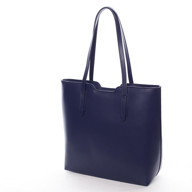 Dámská kabelka kožená Elizabeth, jeansově modrá