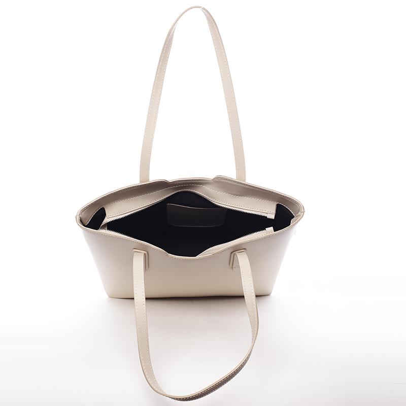 Dámská kabelka kožená Elizabeth, béžová