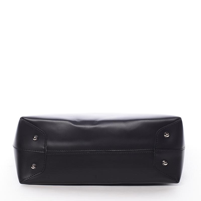 Dámská kabelka kožená Elizabeth, černá