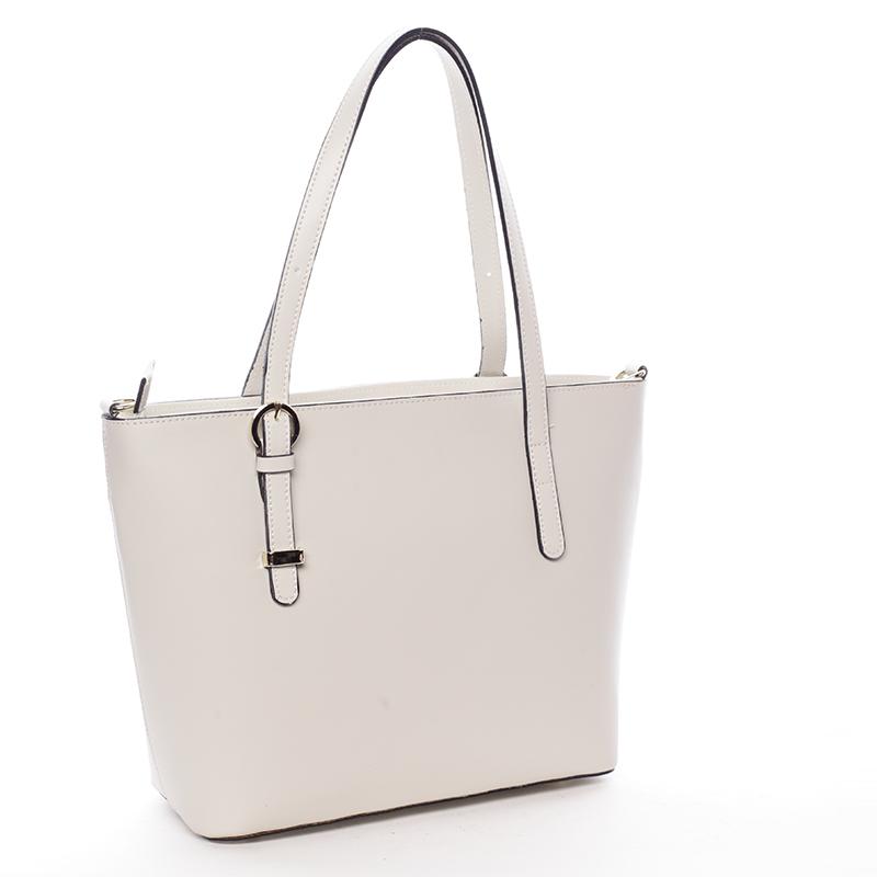 Kožená dámská kabelka Dulce, krémová
