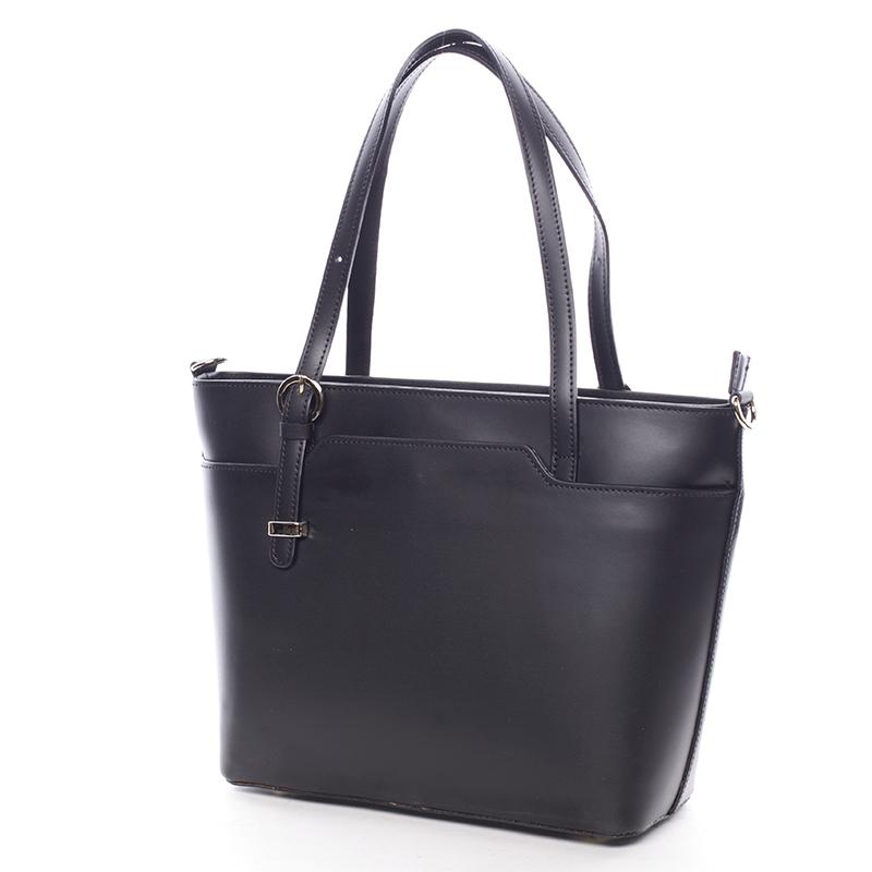 Kožená dámská kabelka Dulce, černá
