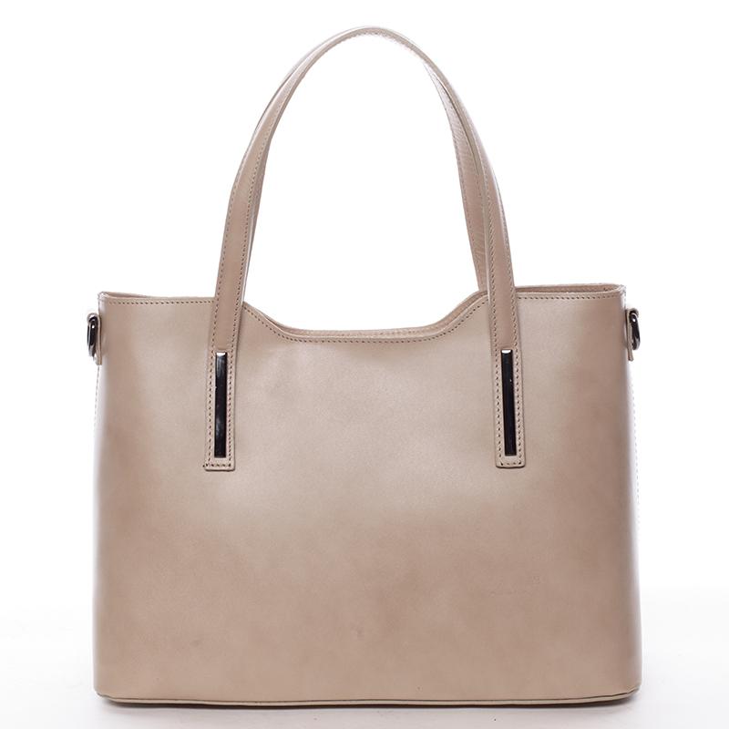 461260063f Elegantní kožená dámská kabelka do ruky Hilary