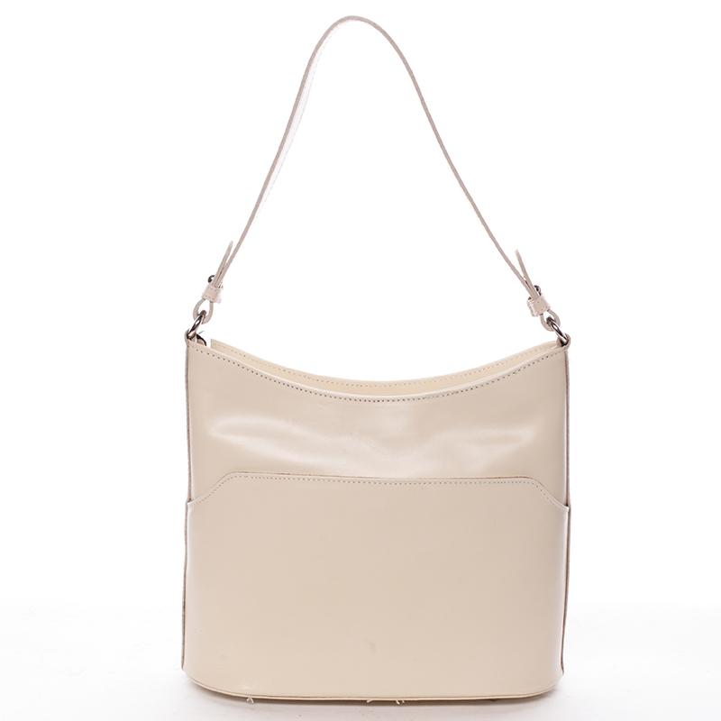 Kožená kabelka Becca, béžová