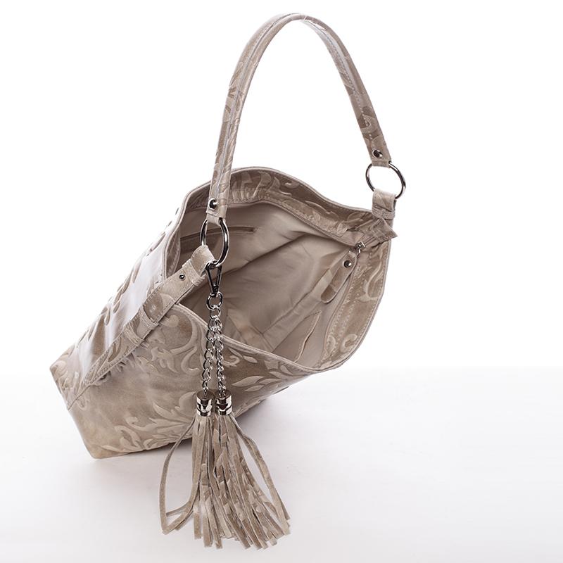 Stylová dámská kabelka Anjali, světle oříšková