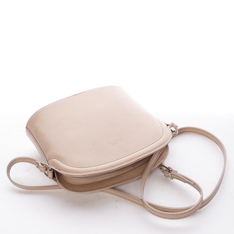 Kožená basic crossbody kabelka Karin, natural