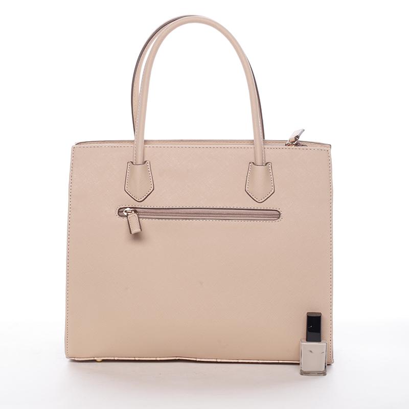 Luxusní kabelka do ruky Gloria, přírodní