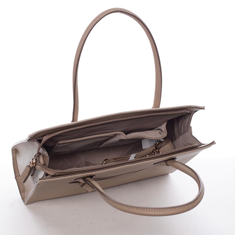 Luxusní kabelka do ruky Gloria, camel
