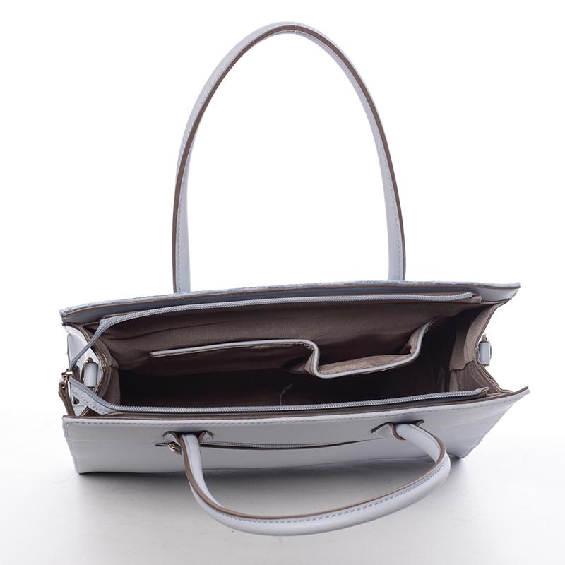 Luxusní kabelka do ruky Gloria, světle modrá