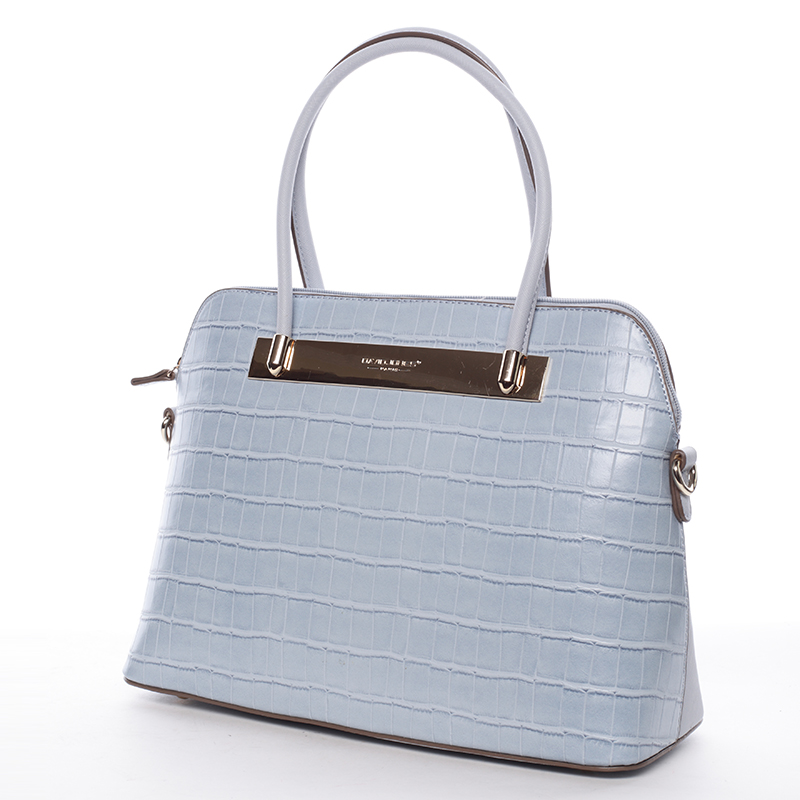 Dámská luxusní kabelka Gianna, světle modrá