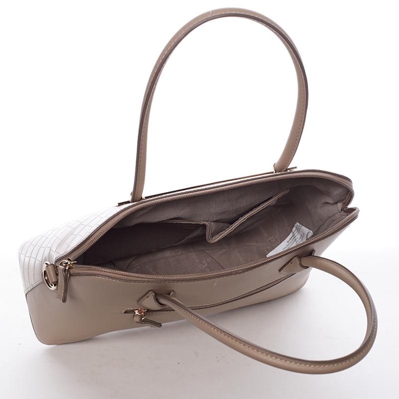 Dámská luxusní kabelka Gianna, camel