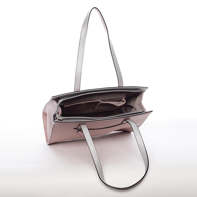 Elegantní dámská kabelka přes rameno Paris, růžová