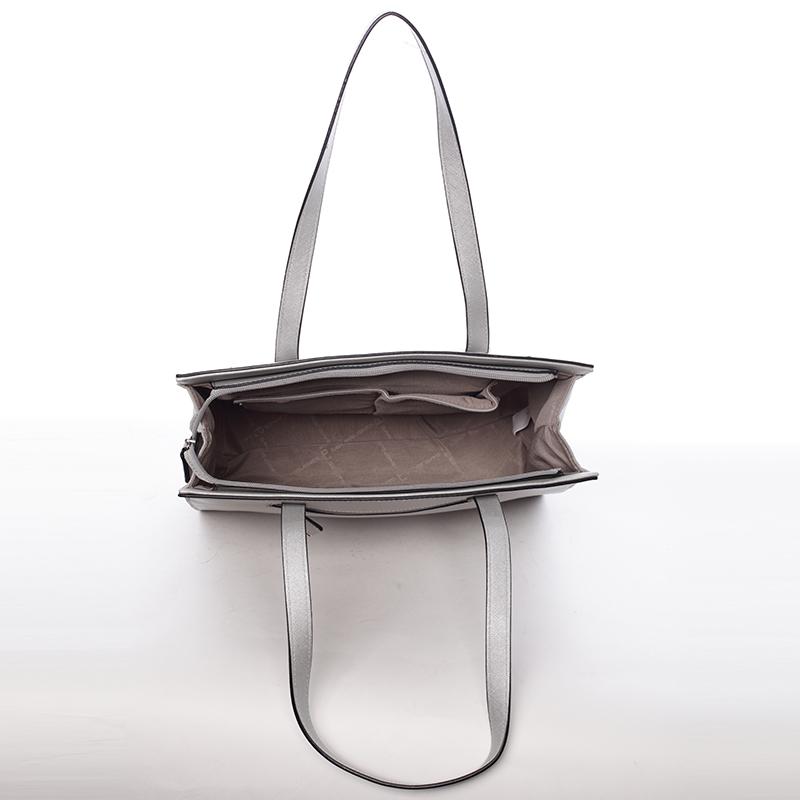 Elegantní dámská kabelka přes rameno Paris, šedá