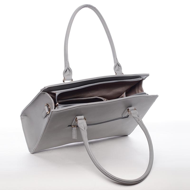 Trendy kabelka do ruky Princess, světle šedá