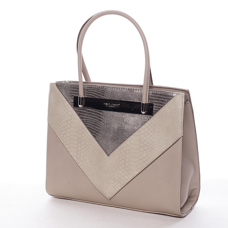 Elegantní kabelka do ruky Victoria, camel
