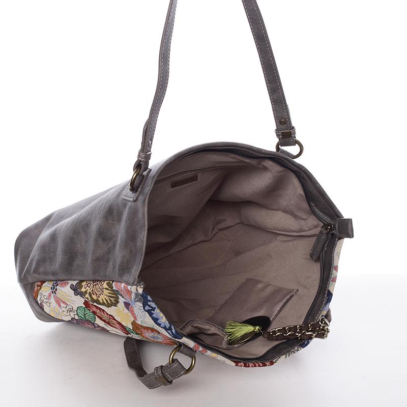 Originální vzorovaná kabelka Violet, béžová