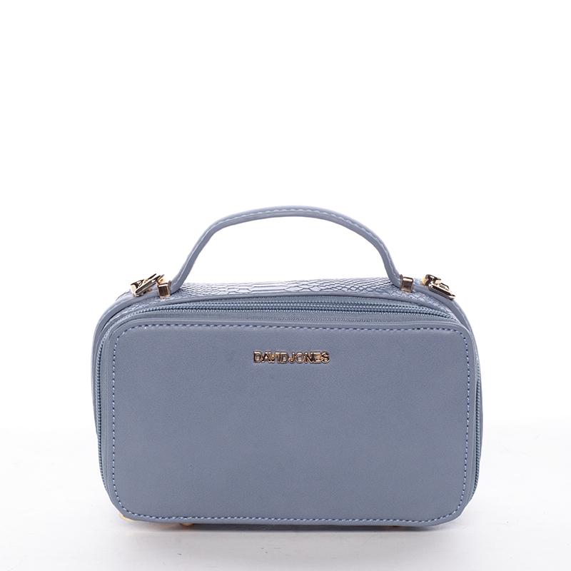 Crossbody ve tvaru malého kufříku, modrá
