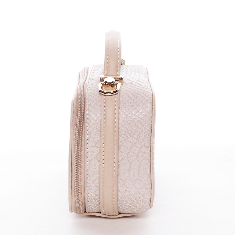 Crossbody ve tvaru malého kufříku, růžová