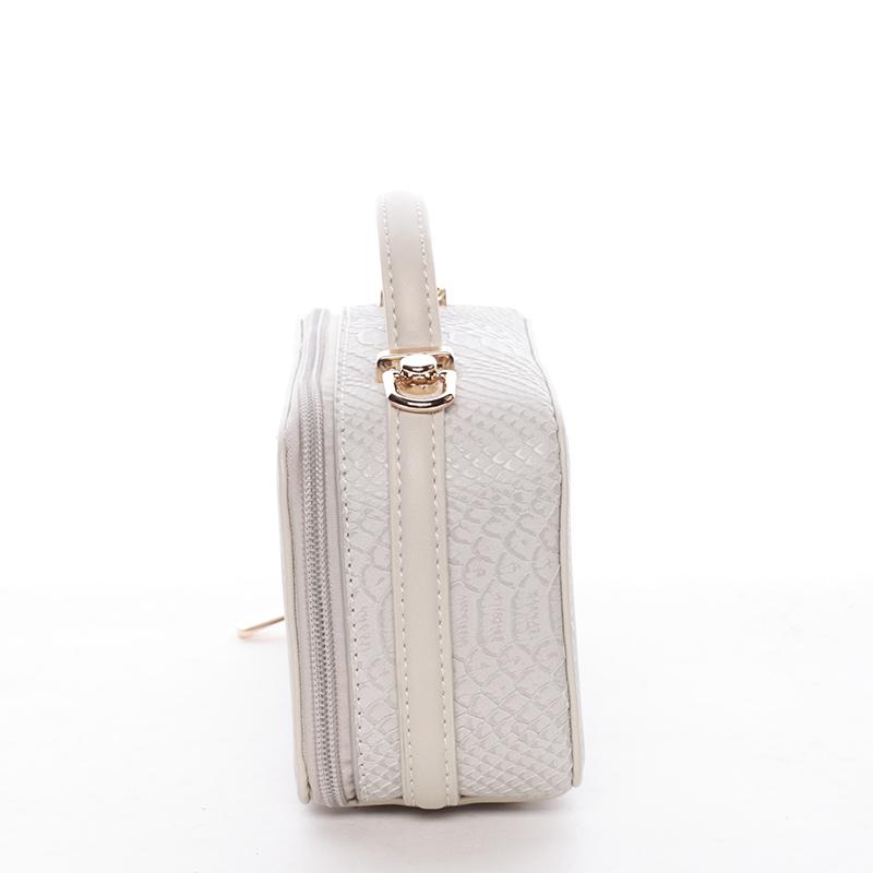Crossbody ve tvaru malého kufříku, béžová