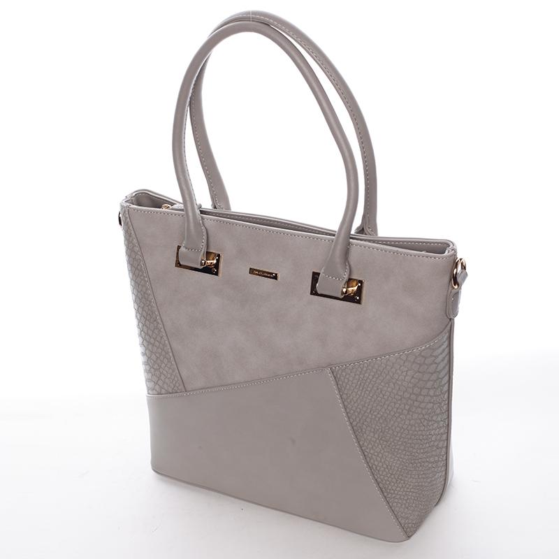 Dámská elegantní kabelka do ruky i přes rameno Brandi, šedá
