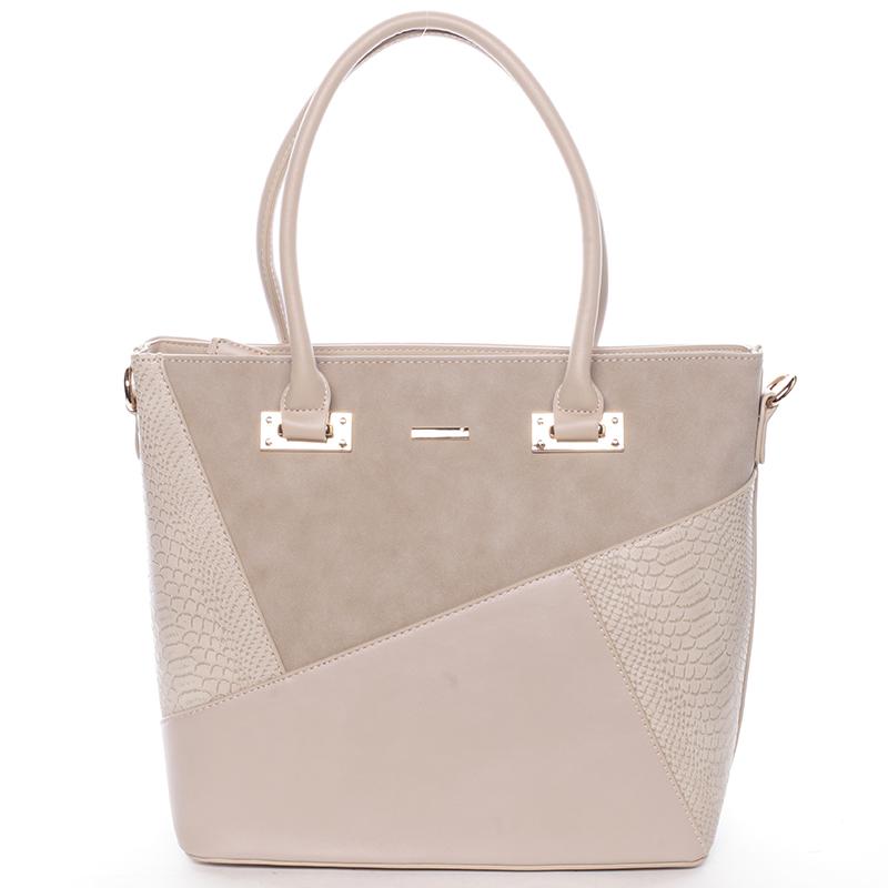 Dámská elegantní kabelka do ruky i přes rameno Brandi, camel