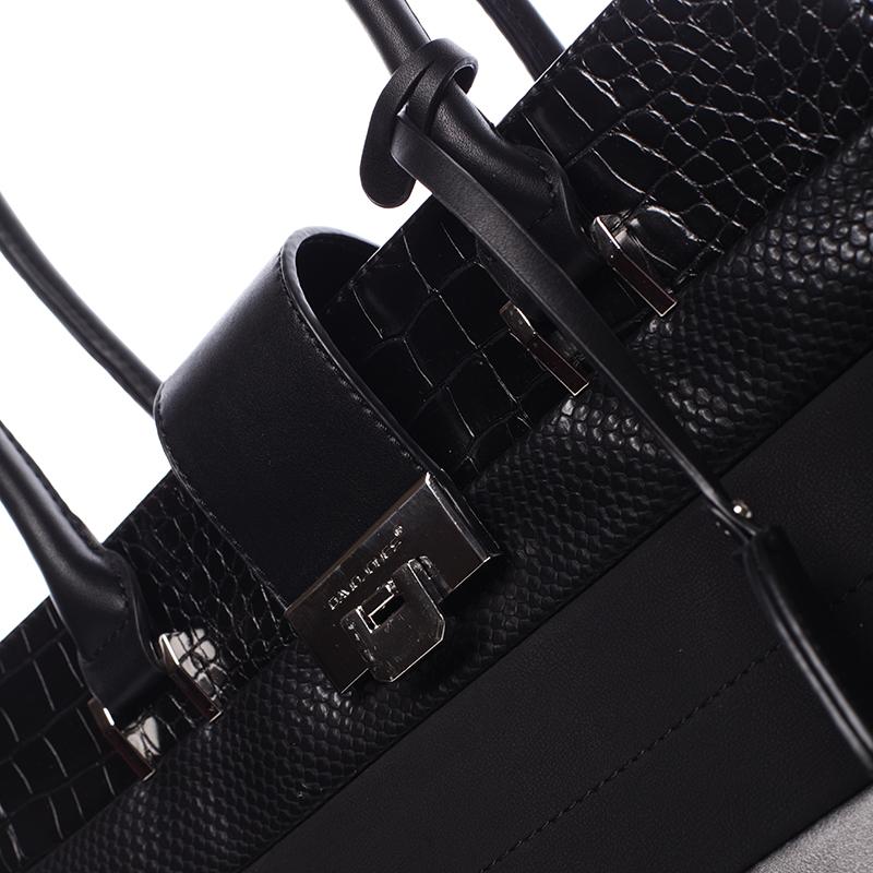 Trendy kabelka do ruky i přes rameno Bianca, černá