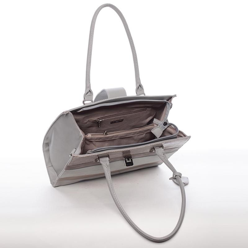 Trendy kabelka do ruky i přes rameno Bianca, šedá