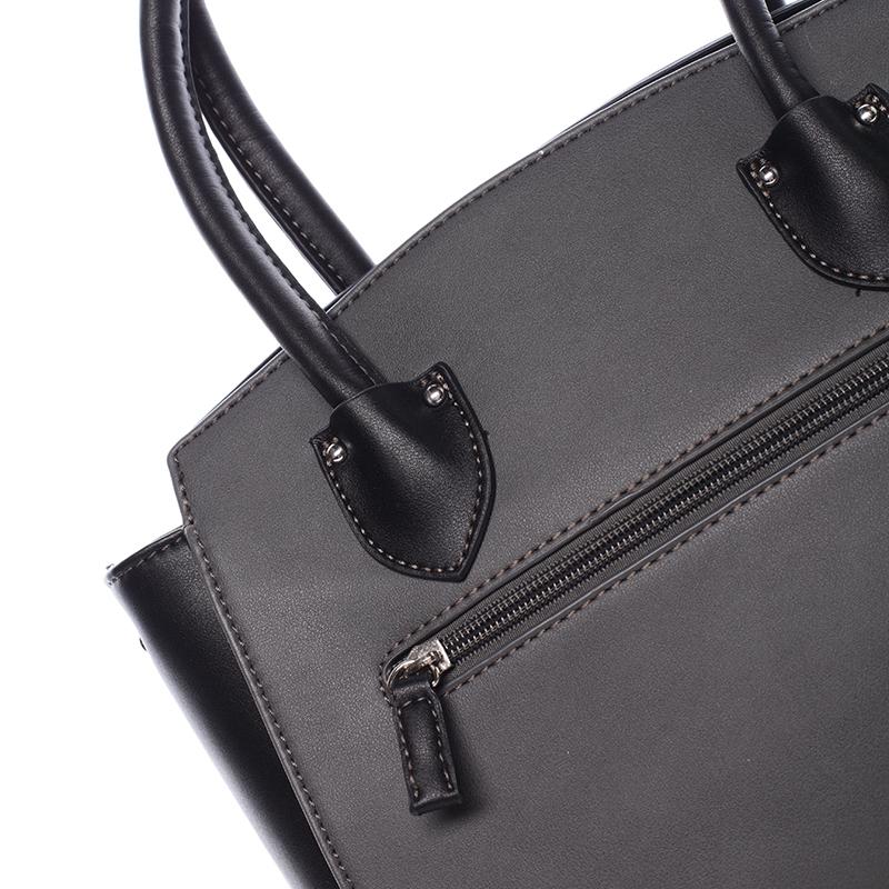 Trendy kabelka do ruky Savanah, černo-šedá